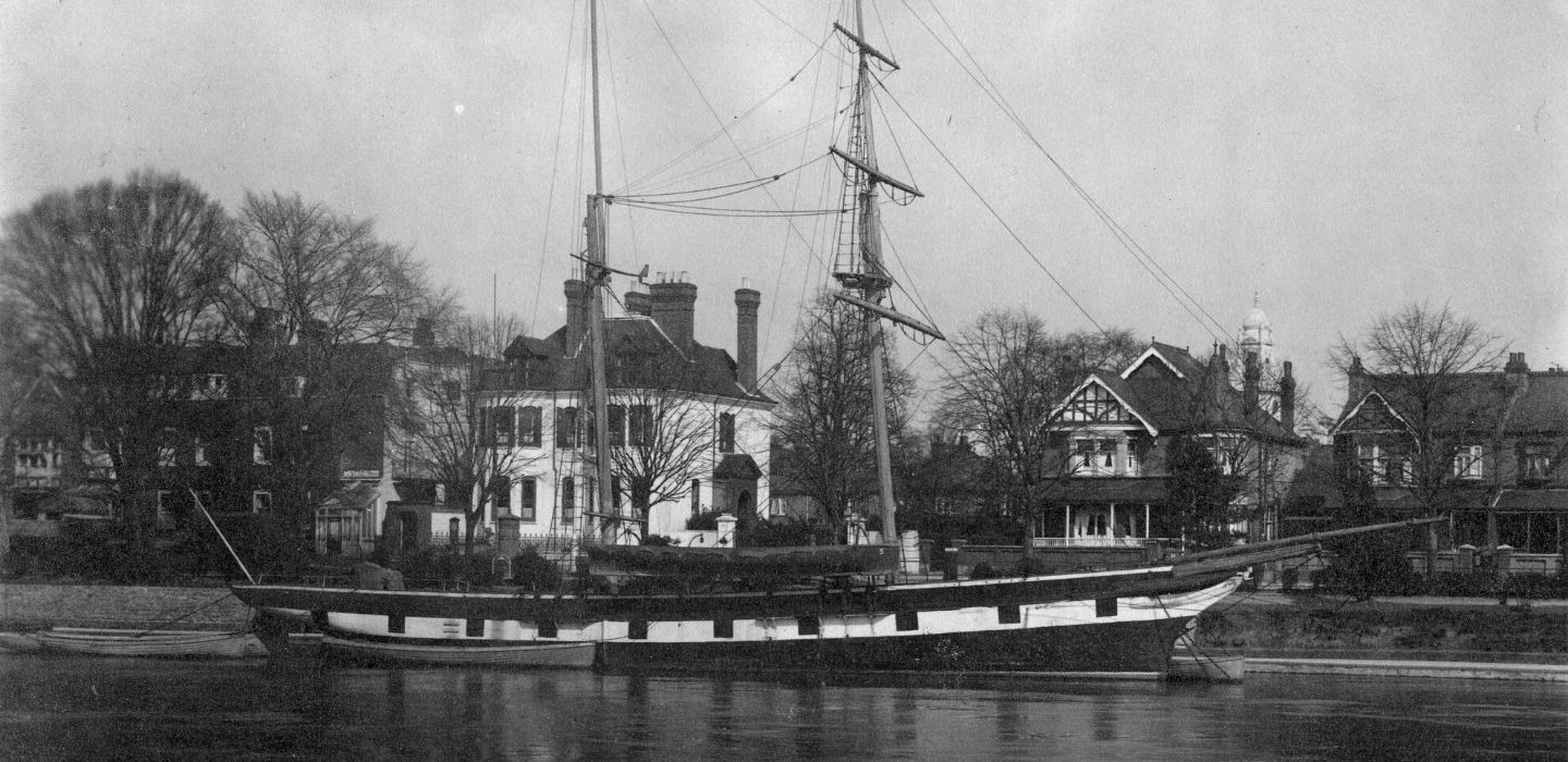 A photograph of a boat on the River Thames from our Photo Collection