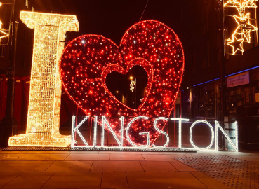 I love Kingston Christmas Lights on Kingston high street